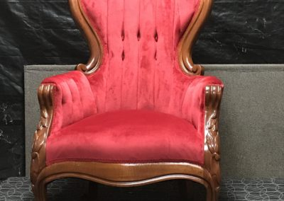 Red Antique Arm Chair